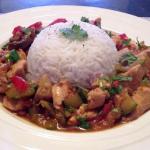 Recept voor wok met hete kip en groente