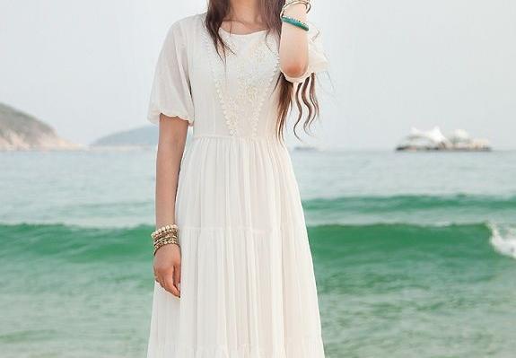 vintage lange jurk