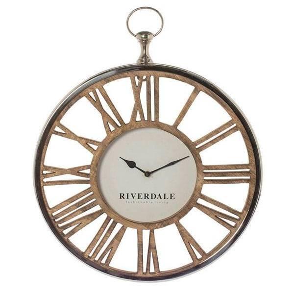 riverdale-wandklok-luton-zilver-70-cm