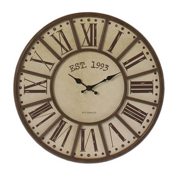 riverdale-wandklok-vintage-brown-40-cm
