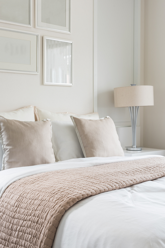 slaapkamer kleuren rustgevend neutraal