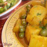 Aardappeltajine met olijven
